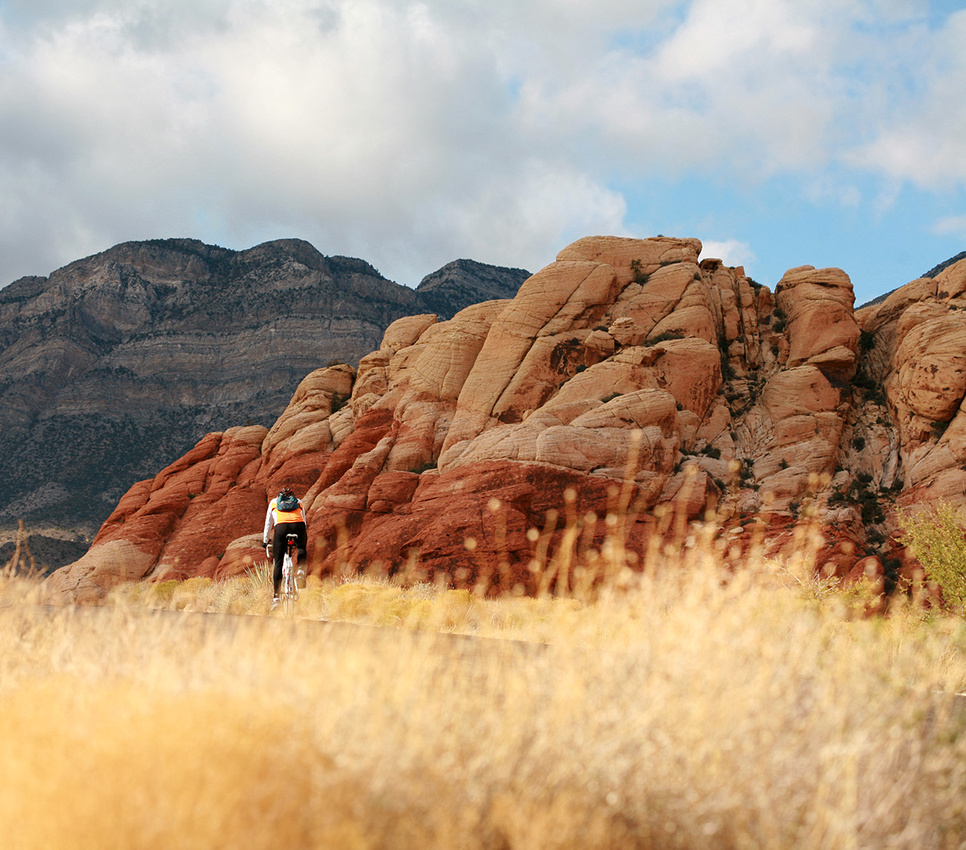Cycling in Red Rock Canyon